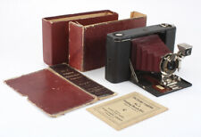 KODAK NO. 3 FOLDING HAWKEYE BURGUNDY BELLOWS, TORN BOX, ISSUES, AS-IS/cks/198419