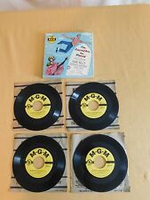 VINTAGE GENE KELLY AN AMERICAN IN PARIS MGM MUSICAL 4 45 RPM RECORD SET in BOX