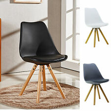 Sophie Piramide Dining Chair with Seat Pad Scandinavian White Black Grey Blue