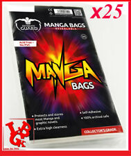 Pochettes Protection Refermables MANGA x 25 Ultimate Mangas Bags Comics # NEUF #