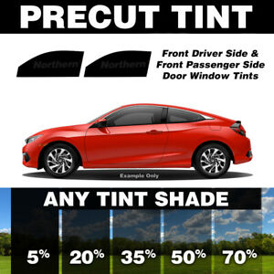 Precut Window Tint for Pontiac Grand Am Coupe 99-05 (Front Doors Any Shade)