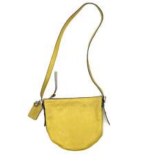 Coach Bleecker Mini Duffle Bag Crossbody Leather Top Zip Mustard Yellow