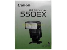 Canon Speedlite 550EX Instruction manual. English.