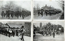Lot Of 4 Vintage Original Postcards Of Church Parade, Aldershot