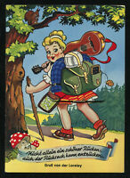 Mint 1940s Germany 3rd Reich Picture Postcard German Youth Culture Girl Bushwalk