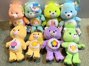 "Care Bears Vintage Plush 7"" - 10"" 2004 Era All With tags LOT Funshine, Wish Bear"