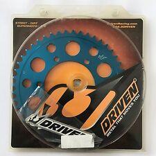 Driven Racing - 5008-520-47T-BL - 520 Aluminum Rear Sprocket, 47T Blue Anodized