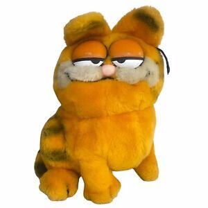 "Vintage 1981 Dakin Garfield Cat Sitting Stuffed Animal 9"" Plush"