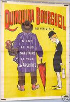 AFFICHE ANCIENNE BIAIS ci 1900-20' QUINQUINA BOURGUEIL AU VIN VIEUX