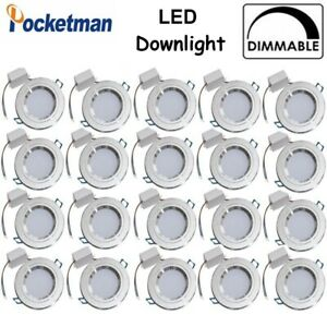 20Pcs Dimmable LED Ceiling Spot Light Downlight Cabinet Wall Light 110V/220V