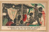 VINTAGE FRANCE MASS for the SICK in AFRICA MISSION of the HOLY SPIRIT POSTCARD