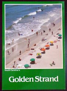 """1980s """"Greetings from South Carolina's Golden Strand"""" Myrtle Beach SC"""