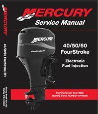Mercury 40 / 50 / 60 EFI (4-Stroke) Outboard Motor Service Manual CD