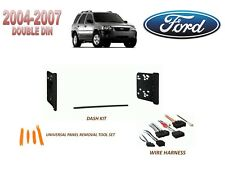 2004-2007 FORD ESCAPE HYBRID DOUBLE DIN CAR STEREO INSTALL KIT, w/ WIRE HARNESS