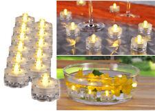 12 Set LED Luces de té Velas de té blanco cálido CENTELLEANTE forma de flores