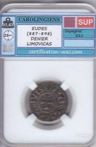 EUDES (887-898) DENIER LIMOVICAS LIMOGES CAROLINGIEN