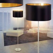 Flur Stand Boden Lampen Leuchten Stehlampe Schlaf Wohn Zimmer Stoff schwarz/gold