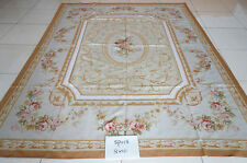 8' X 10' French Aubusson Rug European Style LUXURY NATURAL SILK made