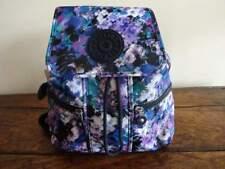 KIPLING Kieran FALL FLOWERS BLUE Purple Black Floral MINI BACKPACK Book Bag