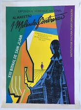 Antonio Maldonado Homenaje Melendez Contreras Puerto Rico 2001 Cartel Serigraph