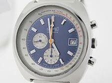 Eberhard & co chronograph automático en acero! lemania 1340! ejecución rara!