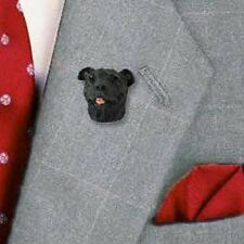 Saffordshire Bull Terrier (brindle) Lapel Pin