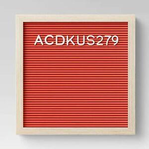 "ROOM ESSENTIALS Letterboard | 12""x 12"" | Red/Natural | 🆕 Minor Scuffs"