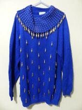 Cervelle Womens Vintage jumper blue Size Medium