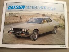 Datsun Skyline 240K Coupe Brochure - March 1979