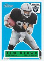 Tim Brown 2001 Topps Heritage #65 HOF Oakland Raiders Card