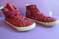 Converse All Star cuir rouge taille 31 (UK12½) réf03 unisex