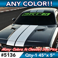 "CHALLENGER RT 2 COLOR  WINDSHIELD DECAL STICKER 44/""w x 6/""h in ANY Colors"