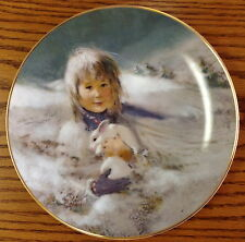 Snow Bunny 3rd Issue Precious Moments Thornton Utz 1980 Collector Plate