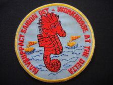 """NAVSUPPACT SAIGON Detachment YRBM-18 """"WORKHORSE IN THE DELTA"""" Vietnam War Patch"""