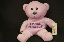 "Verison Purple Teddy Bear Local Package Phone Ad New With Tag Plush 7"" Toy Lovey"