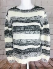 NWT CYNTHIA ROWLEY STRIPED WOOL BLEND LONG SLEEVE OPEN KNIT SWEATER SIZE S
