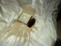 Vintage 1970's Avon Cuff Cream Lucite Gold Tone Cuff Bracelet 195D8