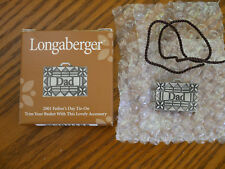 """Longaberger 2001 Father's Day """"Dad"""" Tie-ON  NEW in Box  Made in the USA"""