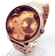 391A Hombre Chico Nuevo Elegante Reloj Pulsera Oro Rosa Banda Cronógrafo Tyre L