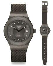 Swatch Sistem Knight Automatic Watch YIM401 Analog Leather Olive