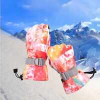-30℃ Women Ski Snow Gloves Windproof Winter Thermal Sports Motorcycle Snowboard