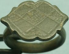 Museum Quality Ancient Bronze Hatched Ring