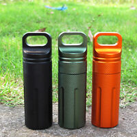 EDC Waterproof Survive Seal box Container Capsule Dry Bottle Case Outdoor AU