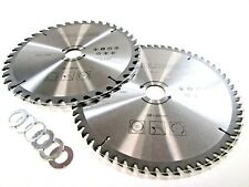 2pc 250mm TCT Circular Saw Blades 40 and 60 Teeth with Adapter Rings PA026
