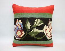 Square Kilim Pillow, 16x16 in, Sofa Pillow, Throw Pillow, Decorative Pillow