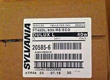 Sylvania 20585 FT40DL/835/RS/ECO Dulux L 40W Compack Flourescent CFL 40/LOT OF10