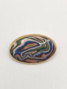 Vintage Ceramic Abstract Brooch