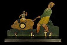 Merveilleux jeu de tir ancien, Art Populaire Forain c.1900 / Cible manège cirque