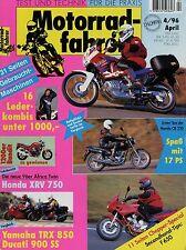 Motorradfahrer 4/96 1996 BMW F 650 Honda XRV 750 Ural IMZ Tourist Yamaha TRX 850