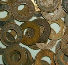 1 Pice Hole Coins Lot of 20 Ancient India Old Copper Coins